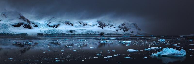 First Light over the Antarctic Penninsula