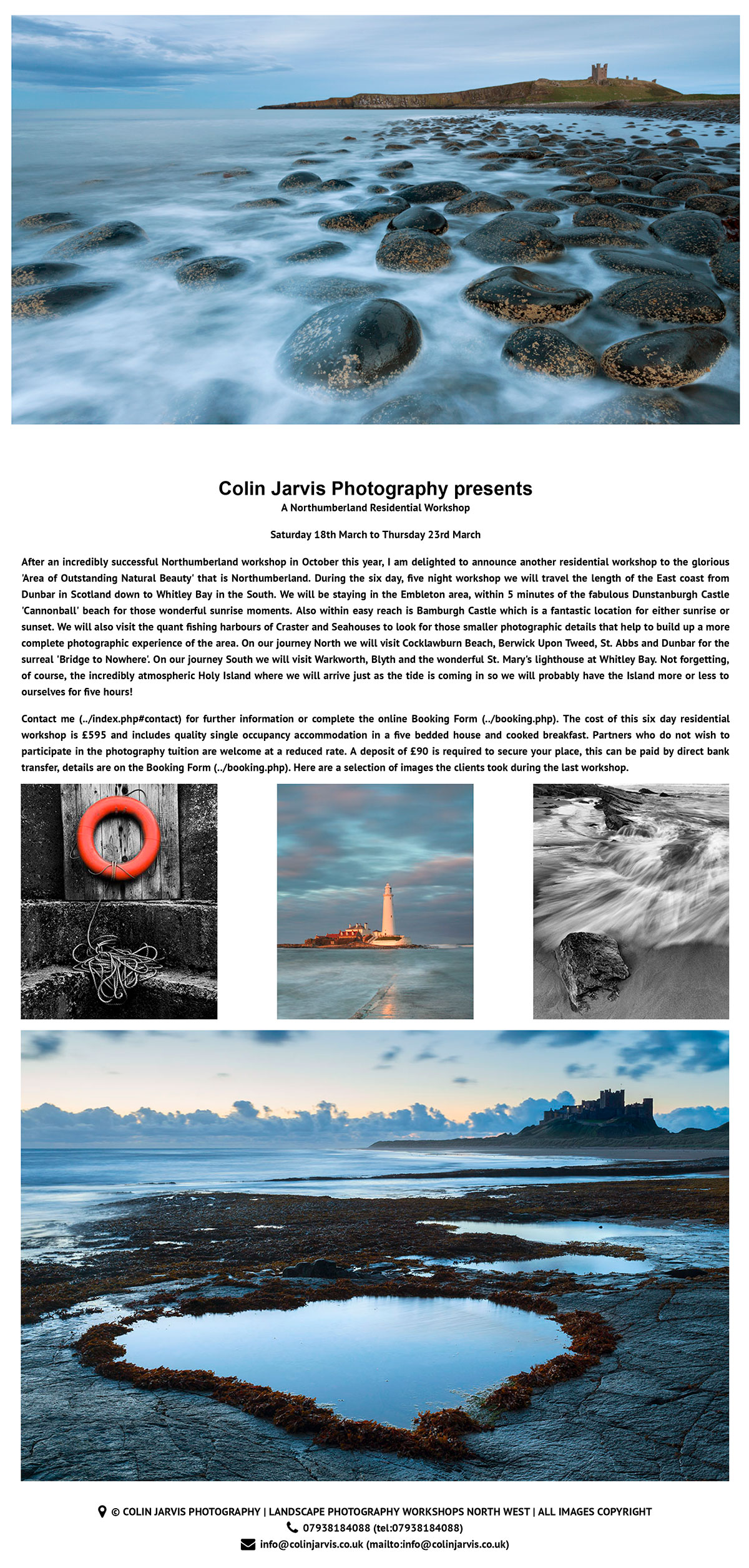 Northumberland Landscape Workshop with Colin Jarvis – North